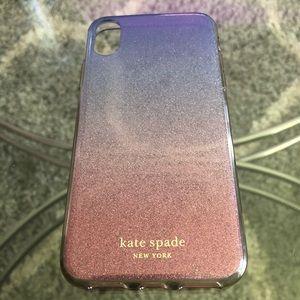 Kate Spade ♠️ glitter iPhone X phone case